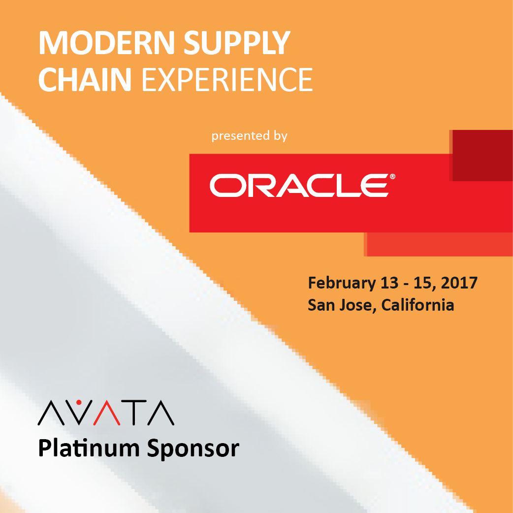 AVATA is Platinum Sponsor for 2017 Oracle Modern Supply Chain ...