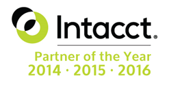 AcctTwo is Intacct's Partner of the Year for 2014, 2015, and 2016