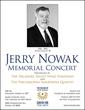 Jerry Nowak Memorial Concert Poster