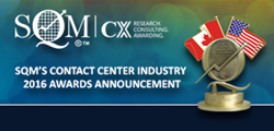 SQM's 2016 Contact Center Industry Awards Announcement