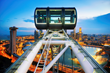 A tourist favourite: the spectacular Singapore skyline from the iconic Singapore Flyer