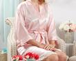 Elegant Lace Kimono Robe - Pink