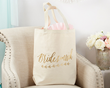 Gold Foil Bridesmaid Canvas Tote