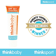 Thinkbaby Honored with Tillywig Award, Parents' Favorite Products, for Thinkbaby Safe Sunscreen