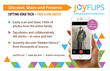 JoyFLIPS connects photos to your family history