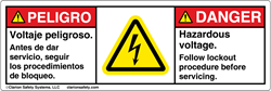 An example of a multilingual safety label formatting option