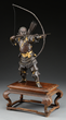 Yoshimitsu Bronze Okimono of Standing Archer, Estimated at $5,000-10,000.