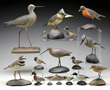 Collection of A.E. Crowell Bird Carvings and Decoys.