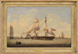 "Robert Salmon, ""A British 18-Gun Snow Departing from the River Mersey"", Estimated at $30,000-50,000."