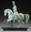 Horse & Rider Weathervane by J. Howard & Co., Estimated at $60,000-80,000.