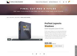 FCPX - ProText Layouts Shadows - Pixel Film Studios Plugin