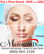 MilfordMD Cosmetic Dermatology Surgery & Laser Center Offers Hundreds of Dollars Off Popular Restylane Facial Filler Treatments through February 2017