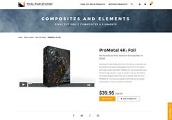 FCPX Plugin - ProMetal 4K Foil - Pixel Film Studios