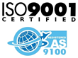 AS 9100 certification provides opportunities within the Aerospace & Defense industries.