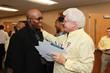 Chuck Futel and Lee Kresser enjoy an AWOP leadership summit. (Memories Matter Photo)