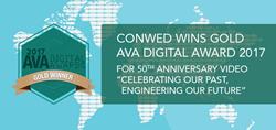 Conwed, AVA Digital Award, 2017 AVA Award