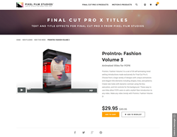 Pixel Film Studios Plugin - ProIntro Fashion Volume 3 - FCPX