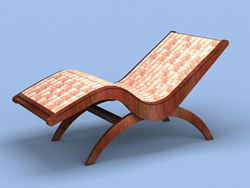 The Atlas Flex-Block Himalayan Salt Lounge from Saltability and TouchAmerica