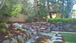 Jefferson Landscaping created a more inspiring and inviting outdoor space for a family with young kids. Jefferson Landscaping provided a water feature to add relaxation for the adults and a treehouse for the kids!