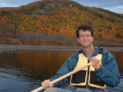 Dr. Steven A. Fesmire, professor of philosophy and environmental studies at Green Mountain College in Vermont enjoys canoeing.