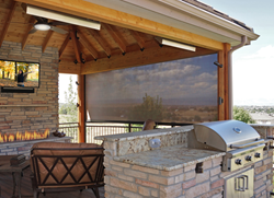 Oasis 2900 Retractable Insect Screens Driven by Lutron