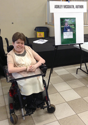 "Ashley McGrath promotes her new book ""UnabASHed by Disability"""