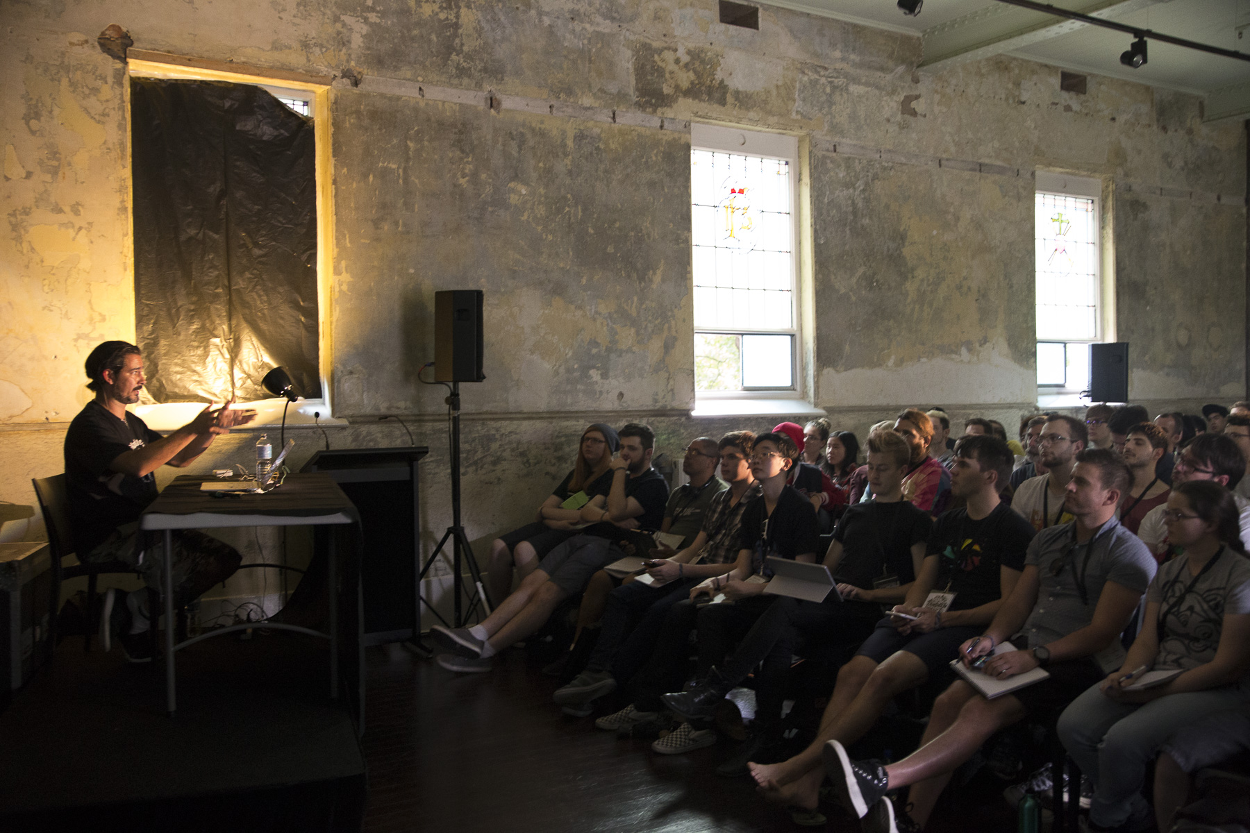 Alex Alvarez Gives A Presentation In The Abbotsford Convent At Gnomon Live Australia Melbourne 2016