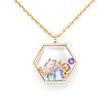 "Zazen Bear's ""Stardust"" pendant with charms"
