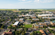 Aerial photo of the city of Rexburg located in Eastern, ID