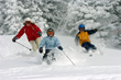 Recreational athletes enjoy skiing at the Grand Targhee Ski Resort in Eastern, ID