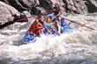Recreational athletes enjoy rafting on Salmon River in Eastern, ID