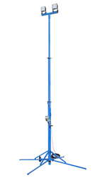 11' to 26' LED Light Tower Equipped with Two Light Heads