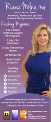 Riana Milne is a world-wide Certified Relationship, Love & Life Coach, #1 Best Selling Author, Radio Host, Licensed Mental Health Counselor, Certified Addictions Professional, and columnist.