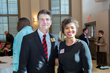 Area Relief Ministries Executive Director Mike Roby poses with Lashonda Springfield during a lunch and reception held Monday, Jan. 24, 2017 at St. Luke's Episcopal Church in Jackson.