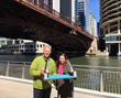 Ed Massey with POH Bridge Model and with Michelle Wood, Chicago Riverfront City Officer