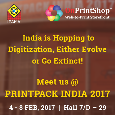OnPrintShop Exhibits W2P Solution in PRINTPACK INDIA for the