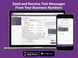 Send and receive text and picture messages right from your business number