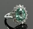 Platinum Paraiba Tourmaline and Diamond Ring