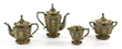 19th C. Important Russian Enameled Tea Set