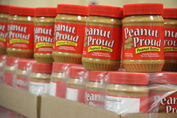 Peanut Proud peanut butter is donated to provide nutritious, sustaining meals to survivors of Hurricane Harvey.