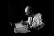 """A puppet representing author Janusz Korczak is part of the """"Kaytek the Wizard"""" story."""