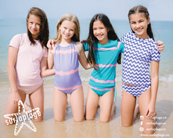 Surlaplage kids tween swimwear rash shirts