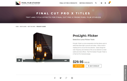 ProLight Flicker - FCPX Plugin - Pixel Film Studios