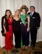 (from left to right) Executive Assistant to the AMG CEO Joselin Paz, AMG VP May Gayle Mengert, Model Virginia Billings and AMG CEO Paul Mengert.