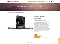 Final Cut Pro X - Pro3rd Fashion Volume 2 - Pixel Film Studios Plugin