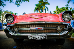 The old classic cars of Havana on Trek Travel's new Cuba bike tour.