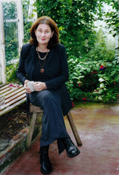 Author Mary Gladstone at home