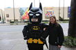 THE BIG BANG THEORY star Mayim Bialik joined LEGO Batman to unveil the LEGO version of THE BIG BANG THEORY billboard. (Photo Credit: © 2017 Warner Bros. Entertainment Inc. All Rights Reserved.)
