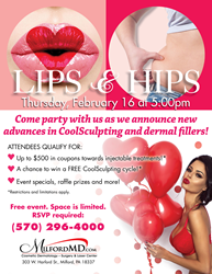 MilfordMD's Lips & Hips Event on Feb. 16 at 5 pm