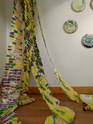 Part of Krisanne Bakers' multimedia art and science gallery installation at Husson University's Robert E. White Gallery.